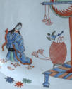 A Dutch-decorated Chinese plate with Japanese scene c1720 - picture 3