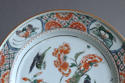A Chinese famille verte plate with birds and peony, Kangxi - picture 3