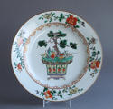 A Chinese famille verte plate with pine and lingzhi fungus, Kangxi - picture 1