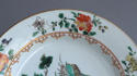 A Chinese famille verte plate with pine and lingzhi fungus, Kangxi - picture 3