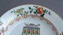 A Chinese famille verte plate with pine and lingzhi fungus, Kangxi - picture 4