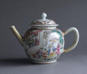 A Chinese export famille rose Mandarin style teapot Qianlong - picture 2