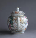 A Chinese export famille rose Mandarin style teapot Qianlong - picture 3