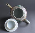 A Chinese export famille rose Mandarin style teapot Qianlong - picture 5