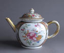 An unusual large Chinese export famille rose teapot - picture 1