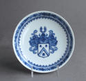 A rare pair of Chinese export Dutch armorial saucers c1735 - picture 2
