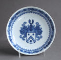 A rare pair of Chinese export Dutch armorial saucers c1735 - picture 3