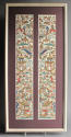 A framed finely worked pair of Chinese silk sleeve bands, C19th - picture 1