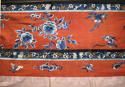 A Chinese late C19th silk altar cloth or bed hanging - picture 2