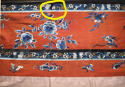 A Chinese late C19th silk altar cloth or bed hanging - picture 7