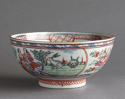 A Chinese bowl with Dutch decoration of people and rabbits, Qianlong - picture 1