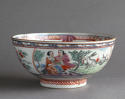 A Chinese bowl with Dutch decoration of people and rabbits, Qianlong - picture 2
