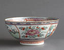 A Chinese bowl with Dutch decoration of people and rabbits, Qianlong - picture 3