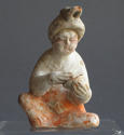 A charming small Tang Dynasty figure of a seated woman - picture 6