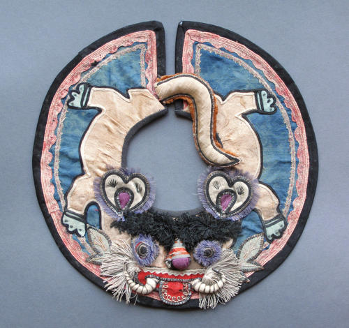 A charming Chinese silk collar for a child, Nineteenth Century