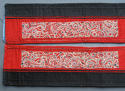 A pair of finely-embroidered Chinese sleeve bands cut from a robe, lat - picture 1