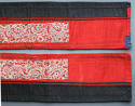 A pair of finely-embroidered Chinese sleeve bands cut from a robe, lat - picture 3