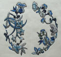 Two Chinese silk appliqués on silk backing c1880 - picture 2