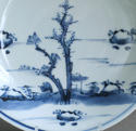 A good Chinese dish with landscape, early Kangxi - picture 2