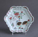 A Chinese famille rose '2 quail' teapot stand, Qianlong - picture 1
