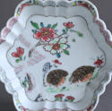 A Chinese famille rose '2 quail' teapot stand, Qianlong - picture 2