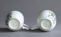 A pair of Chinese armorial grisaille coffee cups, Qianlong - picture 6