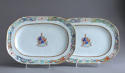 An attractive pair of Chinese export armorial platters, Jiaqing - picture 1
