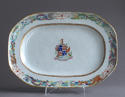 An attractive pair of Chinese export armorial platters, Jiaqing - picture 2