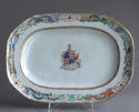An attractive pair of Chinese export armorial platters, Jiaqing - picture 6