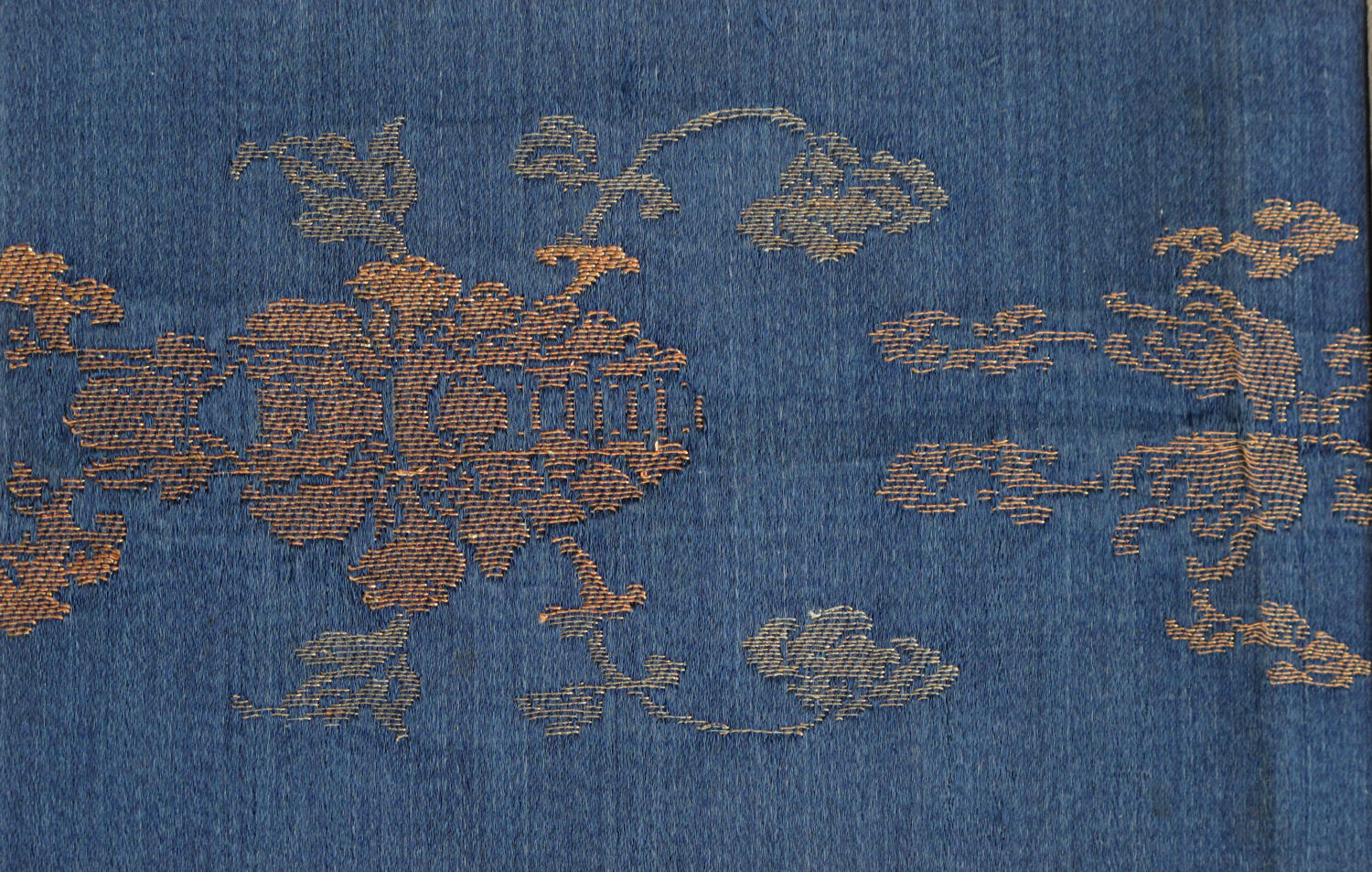 An exquisite small piece of C18th Chinese silk brocade