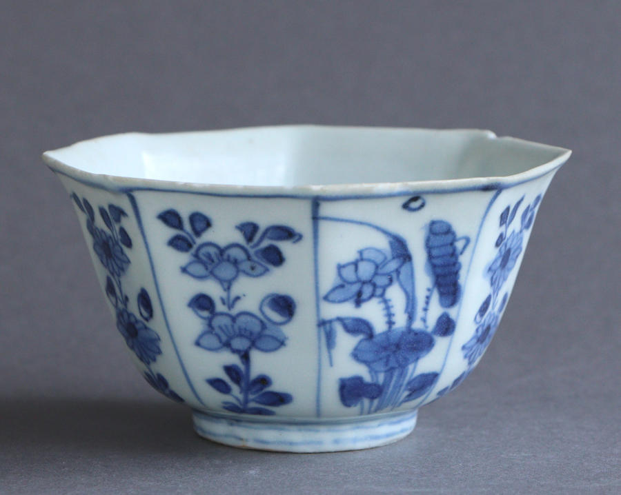 A small Chinese octagonal bowl, Hatcher Cargo c 1643