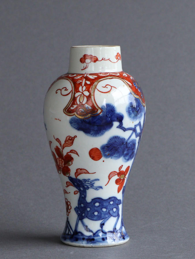 A European-decorated Chinese vase ex Watney collection, Kangxi