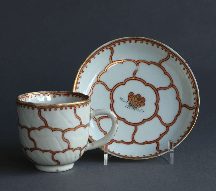 A European-decorated Chinese coffee cup & saucer, Qianlong