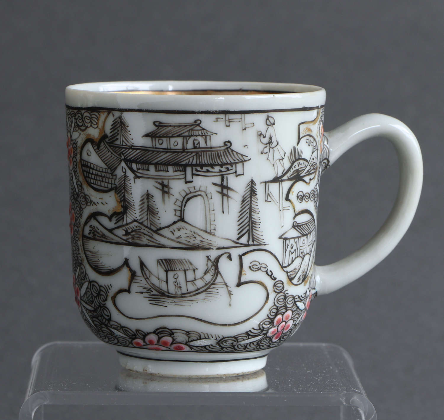 A rare London-decorated Chinese coffee cup, Qianlong (B)