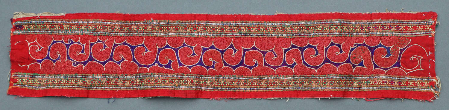 A Miao minority Chinese intricately hand embroidered panel