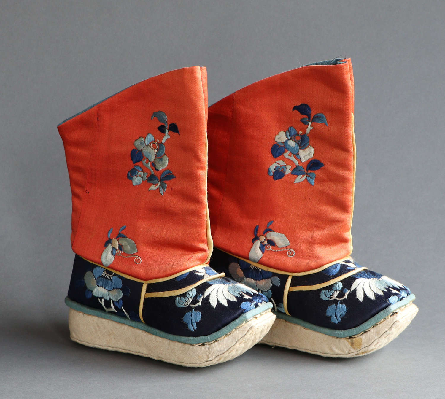 A charming pair of early C20th Chinese child's boots