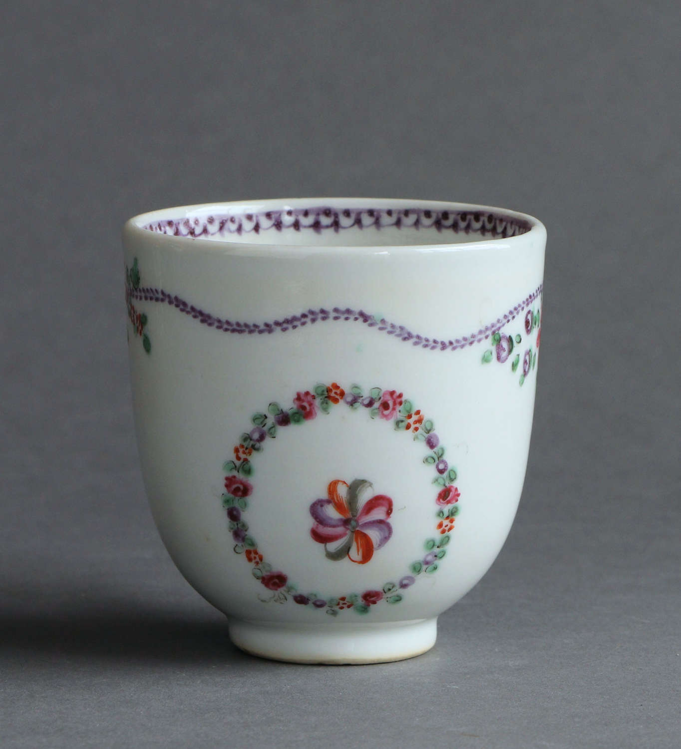 A Chinese export famille rose coffee cup, Qianlong